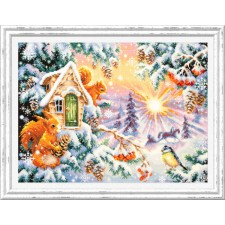 Cross stitch kit Winter Morning - Chudo Igla