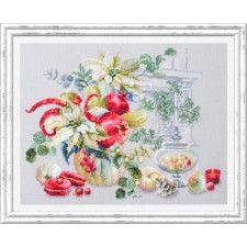 Cross stitch kit Winter Improvisation - Chudo Igla