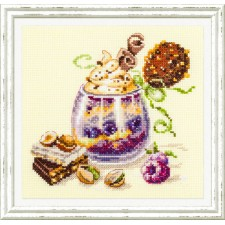 Cross stitch kit Chocolate Dessert