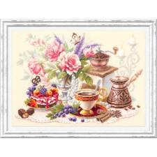 Cross stitch kit A Cup of Coffee? - Chudo Igla