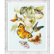Cross stitch kit Butterflies and Apples - Chudo Igla