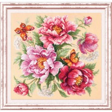 Cross stitch kit Flower Magic - Peonies - Chudo Igla