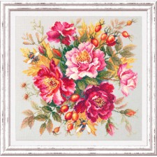 Cross stitch kit Flower Magic - Dogrose - Chudo Igla