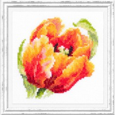 Cross stitch kit Red Tulip