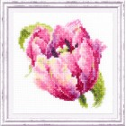 Cross stitch kit Pink Tulit