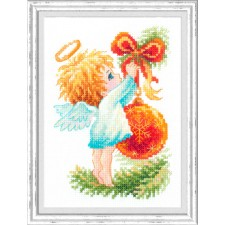 Cross stitch kit Christmas Angel - Chudo Igla