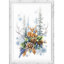 Cross stitch kit Winter Forest Spirit - Chudo Igla