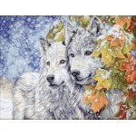 Cross stitch kit Early Snowfall