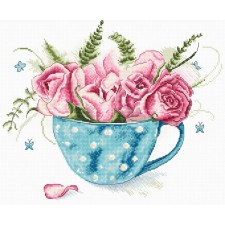 Cross stitch kit A cup of Roses - Leti Stitch