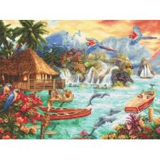 Cross stitch kit Island Life