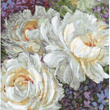 Cross stitch kit White Roses