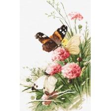 Cross stitch kit Butterflies in the Field
