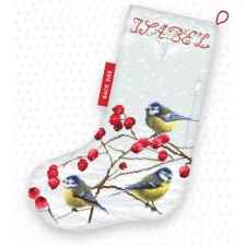 Cross stitch kit Blue tits Stocking - Leti Stitch