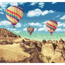Cross stitch kit Balloons over Grand Canyon - Leti Stitch