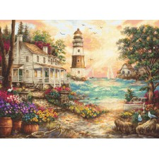 Cross stitch kit Cottage by the Sea - Leti Stitch