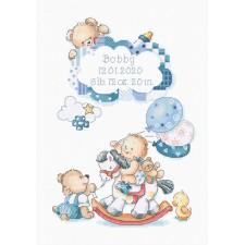 Cross stitch kit It's a boy! - Leti Stitch