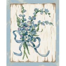 Cross stitch kit Blue I  - Leti Stitch