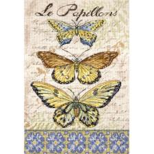 Cross stitch kit Vintage Wings - Le Papillons - Leti Stitch