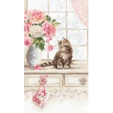 Cross stitch kit Kitten - Leti Stitch
