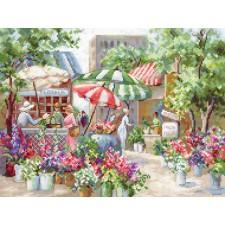 Cross stitch kit Flower Market - Leti Stitch