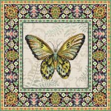 Cross stitch kit Vintage Butterfly - Leti Stitch