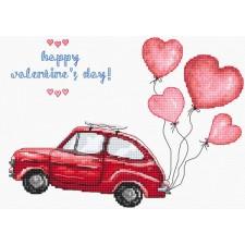 Cross stitch kit Happy Valentine's Day - Leti Stitch