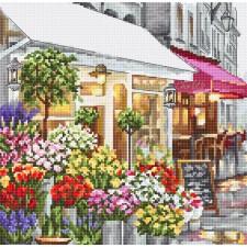 Cross stitch kit Flower Shop - Leti Stitch