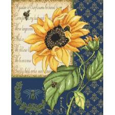 Cross stitch kit Sunflower Melody - Leti Stitch