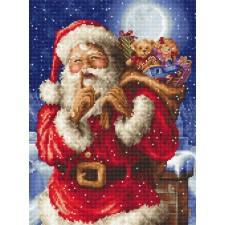 Cross stitch kit Santa's secret - Leti Stitch