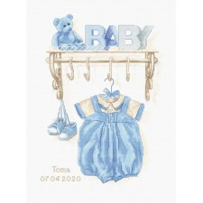 Cross stitch kit Baby Boy Birth - Luca-S