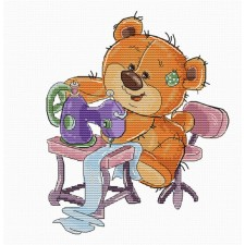 Cross stitch kit Teddy Bear Sewing - Luca-S