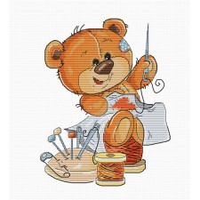 Cross stitch kit Teddy Bear Stitching - Luca-S