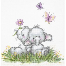 Cross stitch kit Elephant Couple - Luca-S