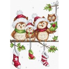 Cross stitch kit The Owls - Luca-S