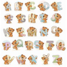 Cross stitch kit Teddy Bear Alphabet - Luca-S