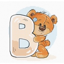 Cross stitch kit Teddy Bear Alphabet Letter B - Luca-S