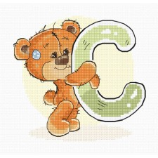 Cross stitch kit Teddy Bear Alphabet Letter C - Luca-S