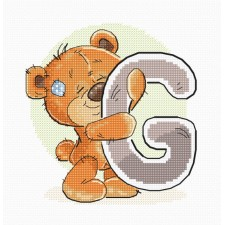 Cross stitch kit Teddy Bear Alphabet Letter G - Luca-S