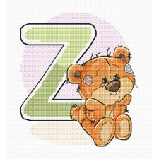 Cross stitch kit Teddy Bear Alphabet Letter Z - Luca-S