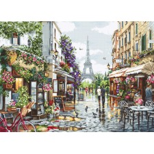 Cross stitch kit Paris in Flowers