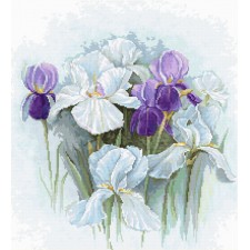 Cross stitch kit Irises