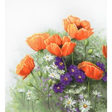 Cross stitch kit Poppies