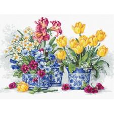 Cross stitch kit Spring garden - Luca-S