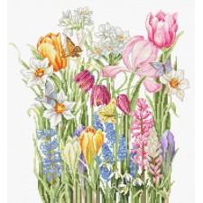 Cross stitch kit March Bouquet - Luca-S
