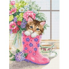 Cross stitch kit Pretty Kitten - Luca-S