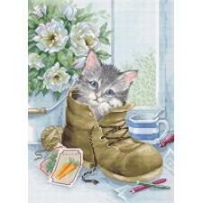 Cross stitch kit Cute Kitten - Luca-S