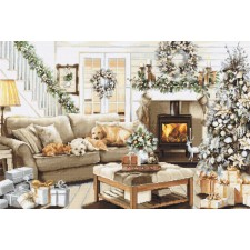 Cross stitch kit Dreaming of a White Christmas - Luca-S