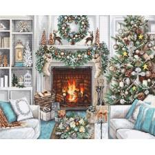 Cross stitch kit Christmas Interior - Luca-S