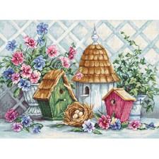 Cross stitch kit Garden Nesting - Luca-S