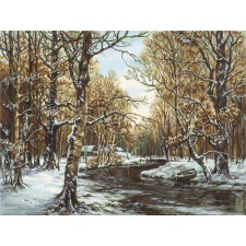 Cross stitch kit First Snow - Luca-S
